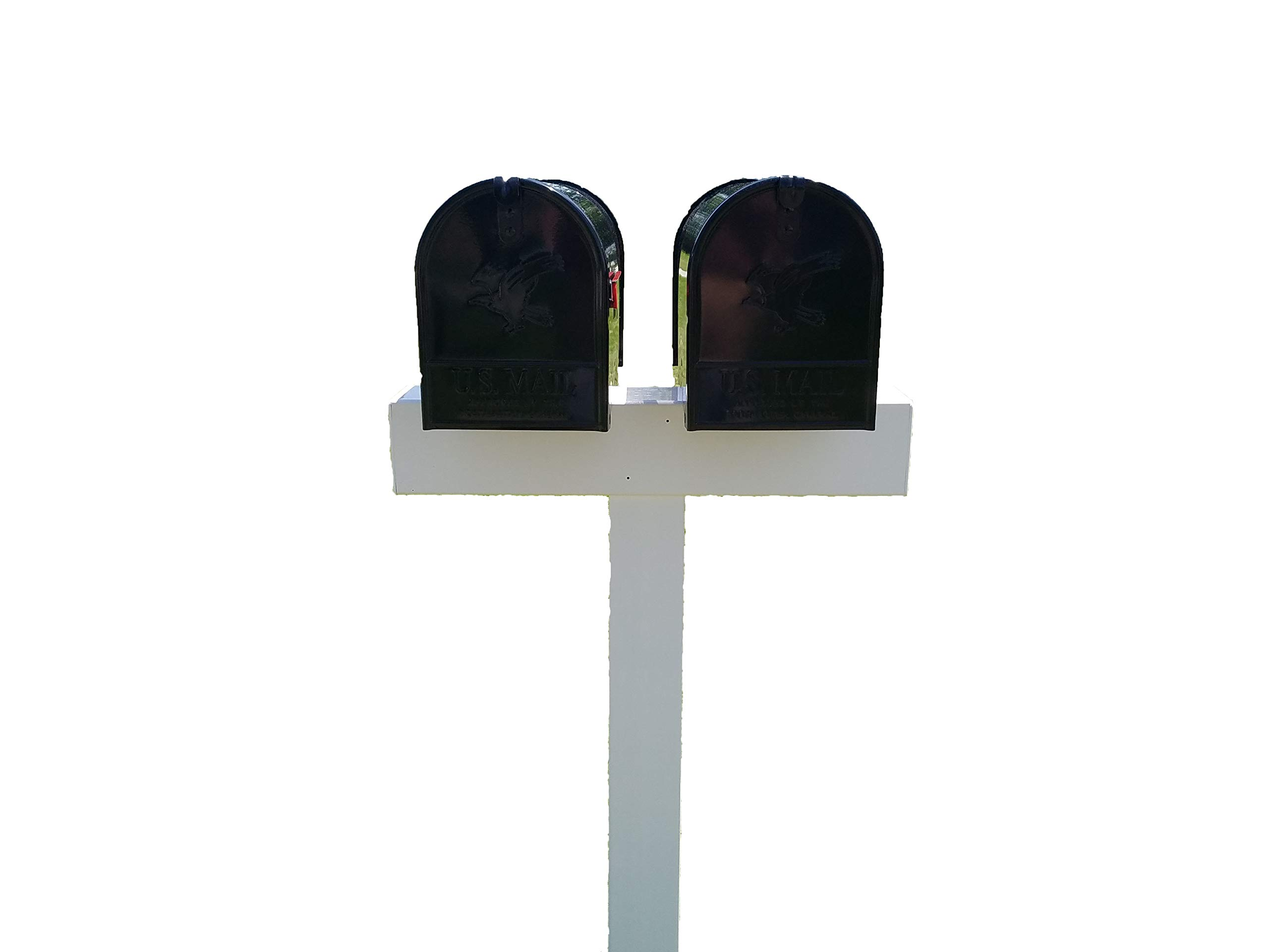 Handy Post 2, 42-in x 26-in White Vinyl Mailbox Post Sleeve by Handy Post