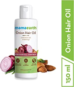 Mamaearth Onion Hair Oil For Hair Growth & Hair Fall, 150 ml