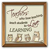 Cathedral Art GP305 Teachers Copper Plaque, 4 by 4-Inch
