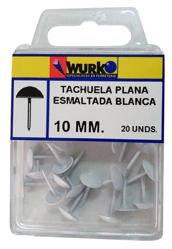 WURKO 8426024006101 - Tachuela esmaltada blanca 6101 blister-20