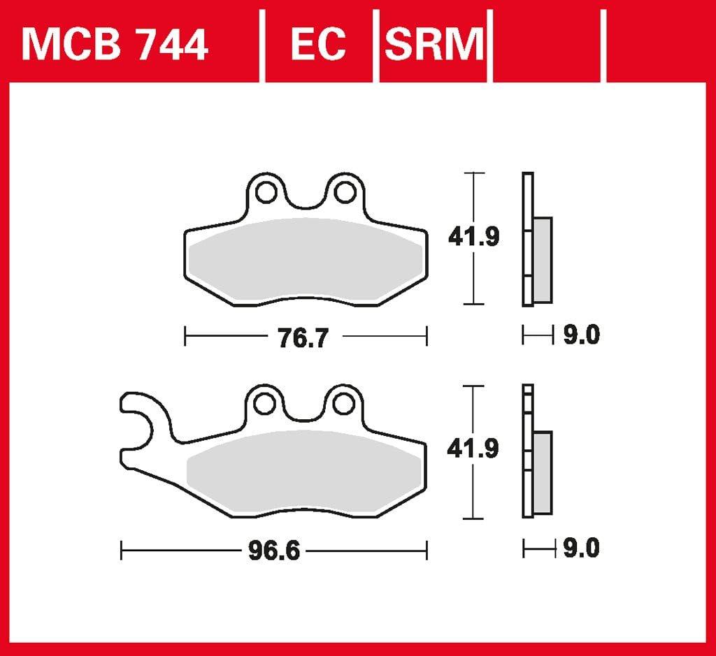 Bremsbelag Lucas Mcb744ec Organisch Für Roller Scooter Offroad Auto