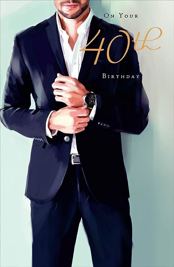 Cards Galore Online Tarjeta de cumpleaños para Hombre DE 40 ...