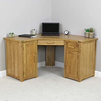 corner home office furniture. Brilliant Corner The Furniture Market New London Solid Oak Corner Home Office Desk In E