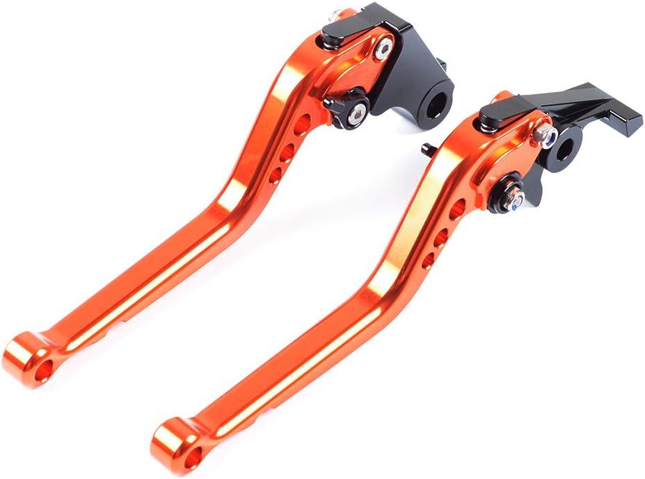 Tencasi Orange Cnc Lang Bremshebel Kupplungshebel Hebel Set Für Triumph Bonneville T100 Se Black 2006 2015 Scrambler 2006 2016 Tiger 1050 Sport 2007 2016 Auto