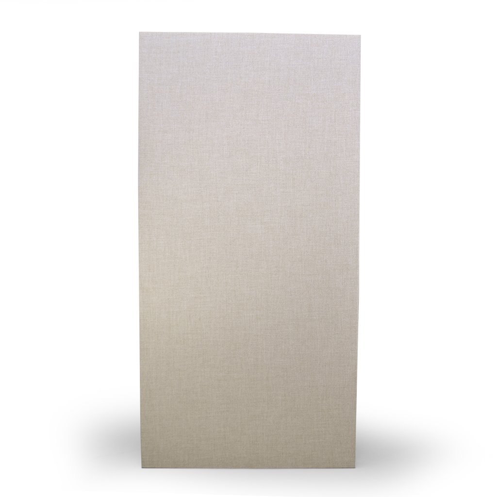 Acoustical Sound Absorbing Wall Panels, Formaldehyde Free, 1'' x 24'' x 48'', 6# density Lot of 4, Beige