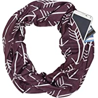 Paskyee Infinity scarf with hidden pockets for women Convertible Travel Scarf