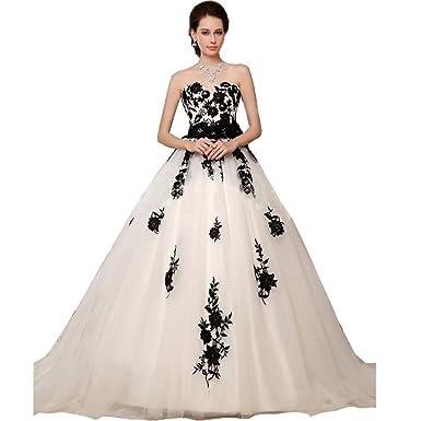 Chady Black And White Lace Vintage Wedding Dresses Plus Size 2017