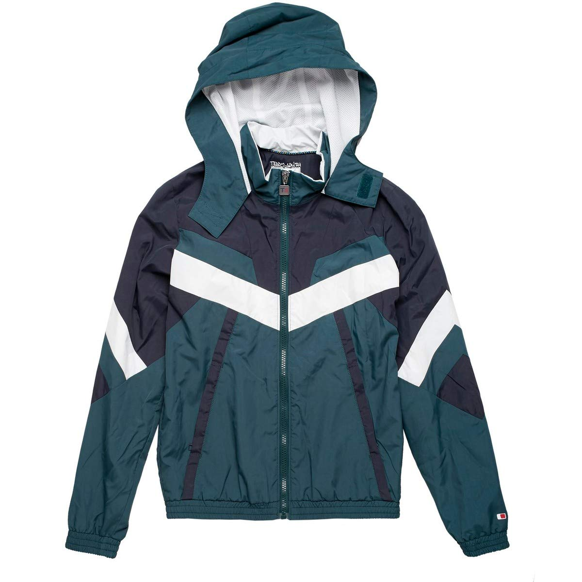 Teddy Smith Hooded Windcheater, 10-16 Years Green Size 10 Years (138 cm)