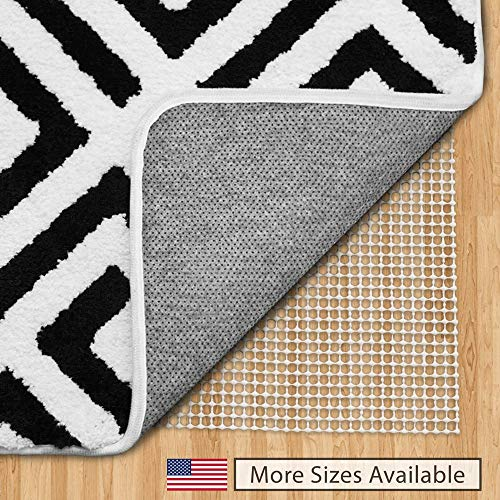 Gorilla Grip Original Area Rug Gripper Pad (4x6), Made in USA, for Hard Floors, Pads Available in Many Sizes, Provides Protection and Cushion for Area Rugs and Floors