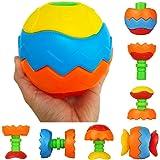 Giochi Puzzle Costruzioni in Plastica per Bambini Montessori Neonato Gioco Bagnetto Giocattolo Educativi, 5 Pezzi