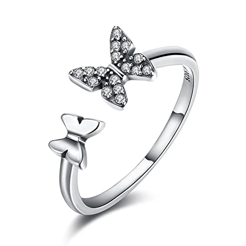 925 Sterling Silver Ring Butterfly Resizable Women/'s Jewellery Aus Ladies