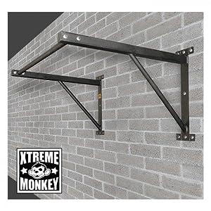 Xtreme Monkey Wall Mounted Chin Up Bar Straight Pull Up Bar