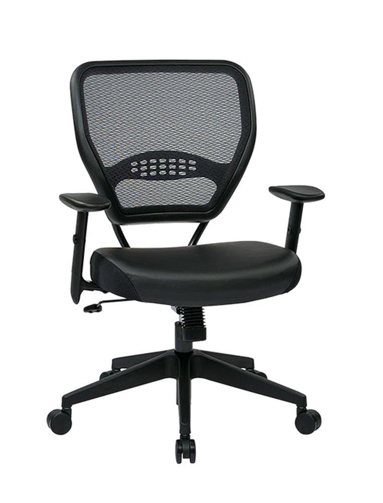 Amazon.com: Space Seating 5700E Professional Dark Air Grid Back Managers  Chair With Black Eco Leather Seat: Kitchen U0026 Dining