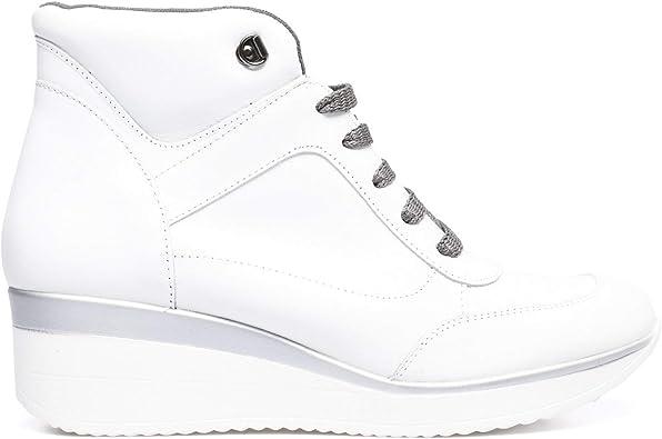 CÓMODO Botín de cuña Blanco: Amazon.es: Zapatos y complementos