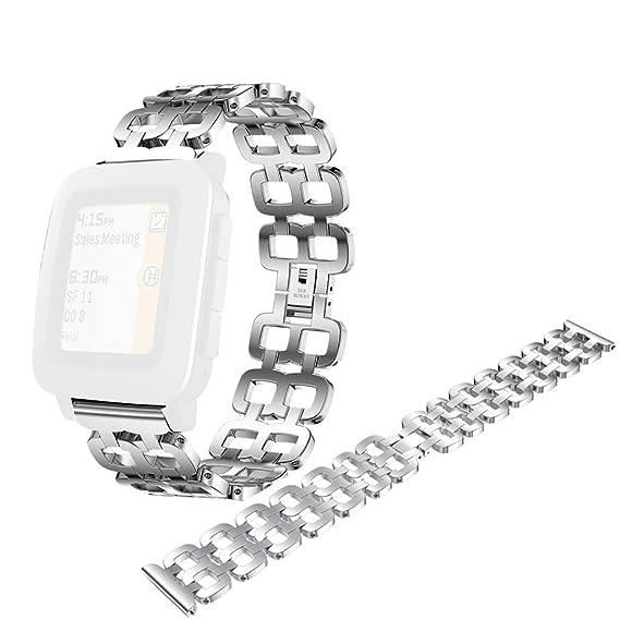 12shage Correa de Reloj para Pebble Time Smart Reloj de ...