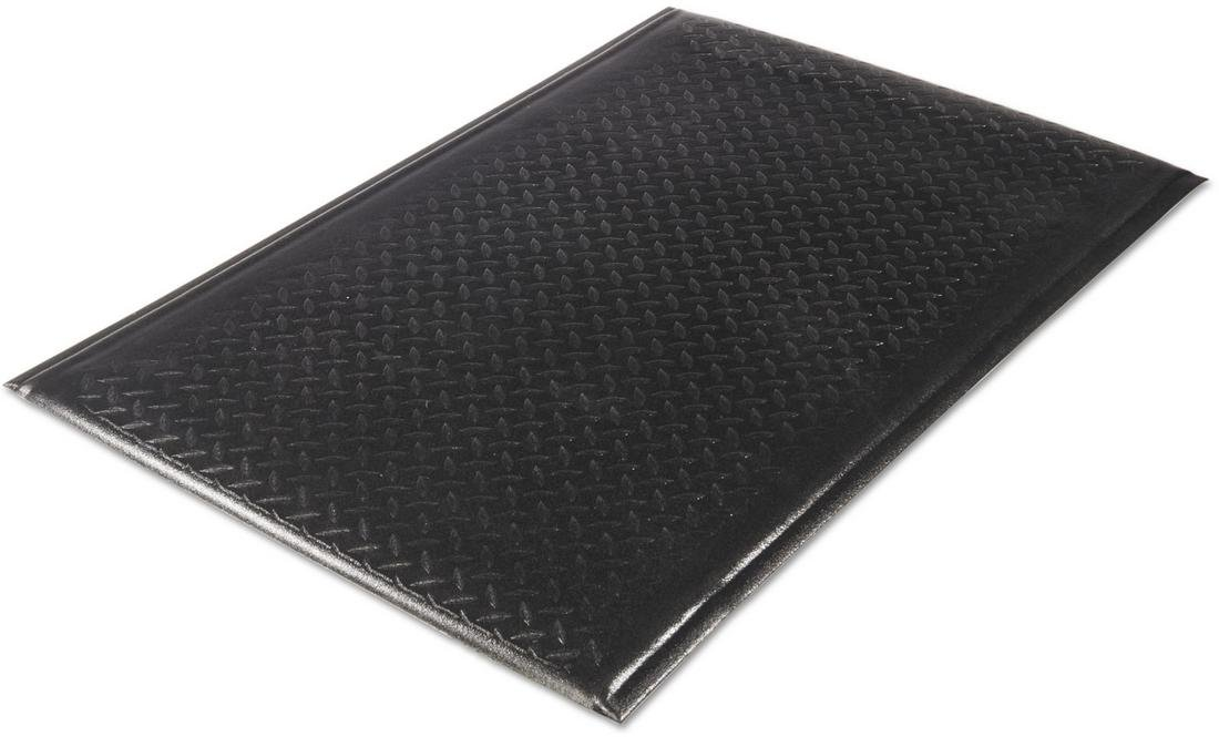 Guardian 24030501DIAM Soft Step Anti-Fatigue Floor Mat, Diamond Textured, 3' x 5', Black