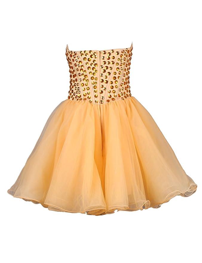 Dressystar Fresh Orange Girls Prom Dress Fully Beadings Up Body Size 18 Orange: Amazon.co.uk: Clothing