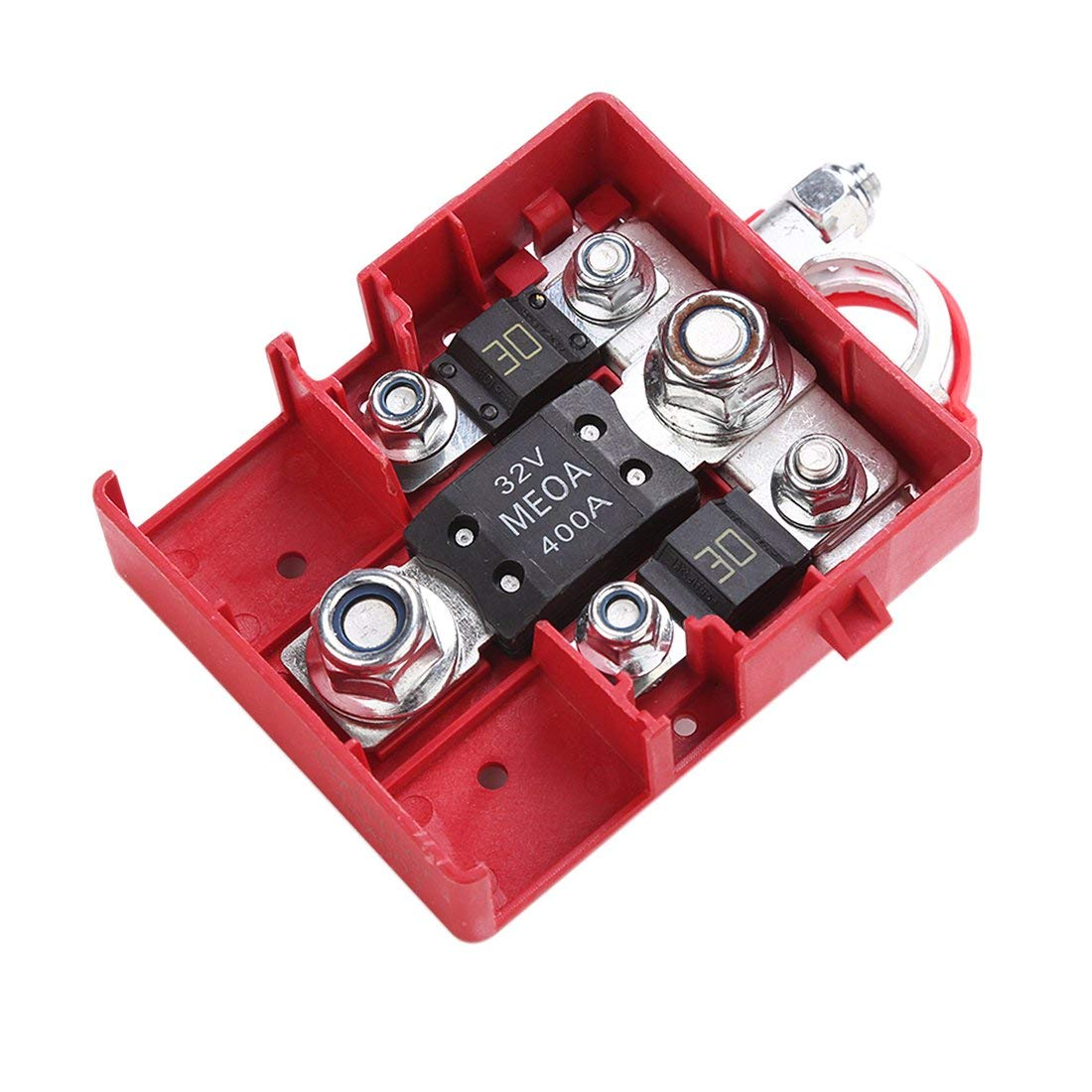 Car Fused Battery Distribution Terminal Connector 32V 400A Quick Release Battery Terminals Clamps Car Caravan Formulaone