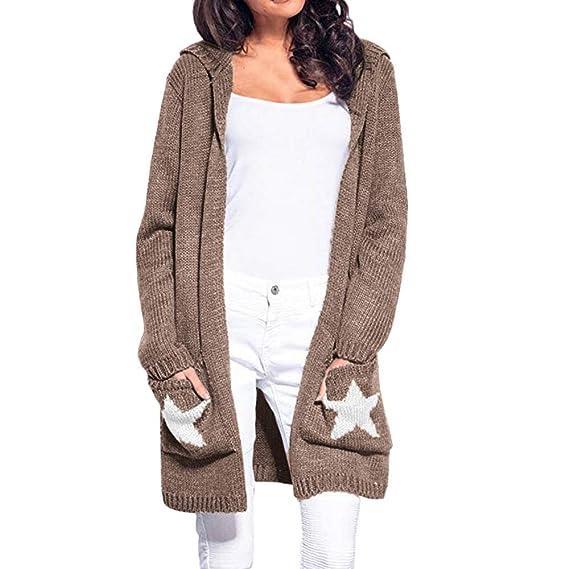Strickjacke Damen Asymmetrisch Pullover Strickmantel Pulli NEU 36 38 40 42