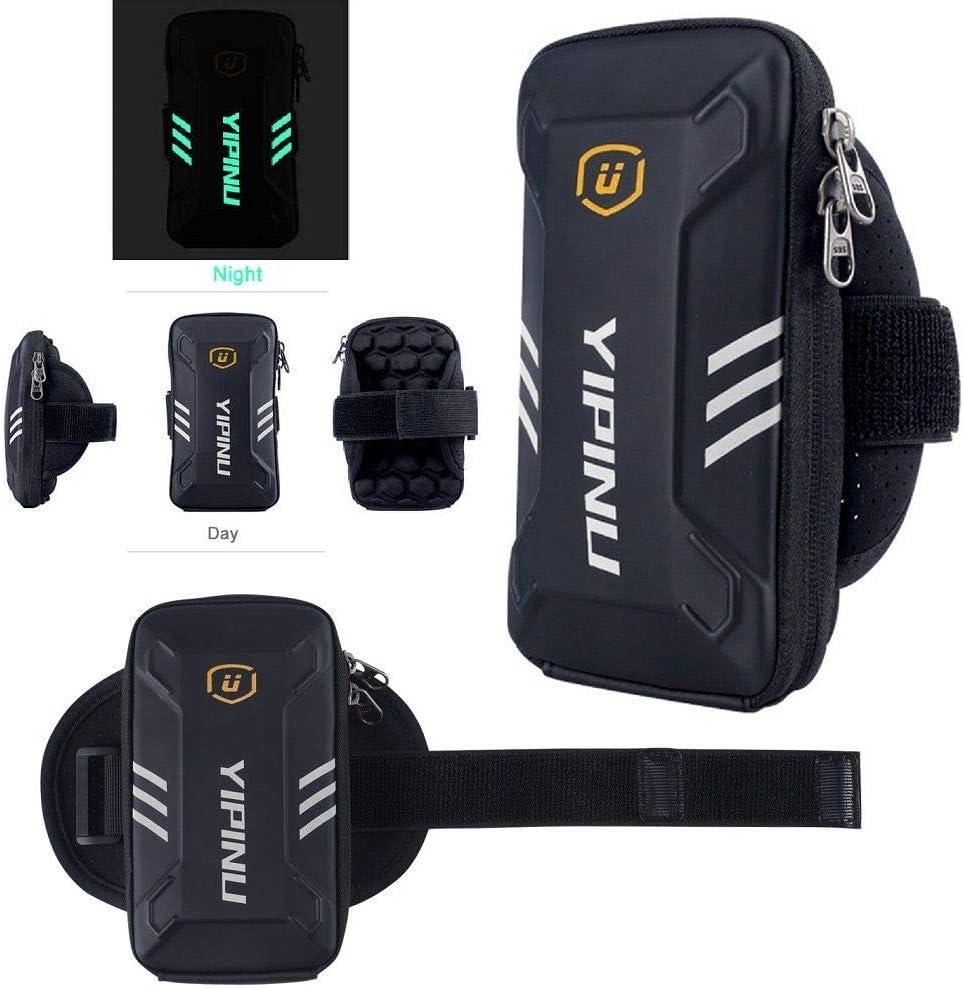 DFV mobile - Funda Brazalete Reflectante Impermeable con 2 Compartimentos Deporte Correr Andar Ciclismo Gimnasio para Xiaomi Mi6 / Mi 6 - Negra