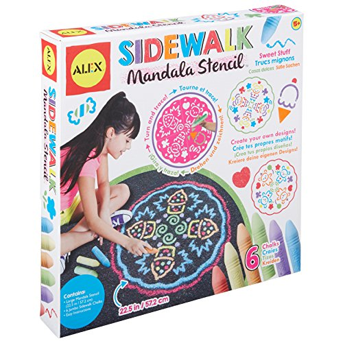 Alex Art Sidewalk Mandala Sweet Stuff, Multicolor ()