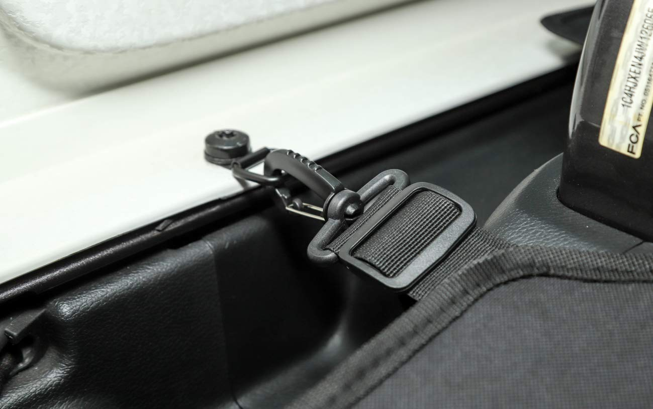Highitem Car Interior Trunk Cover Luggage Carrier Curtain with Screw Nut Pull Buckle Tool Decoration for Jeep Wrangler JL 2018 Up (Black)