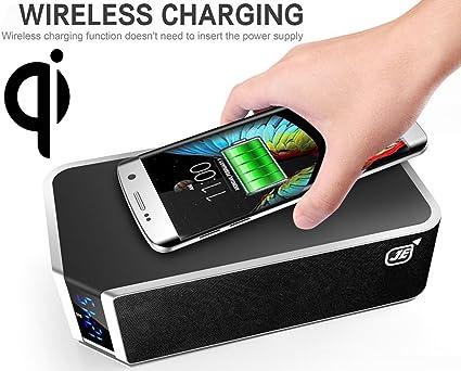 Qi carga inalámbrica + Bluetooth Altavoz Caja para smartphone de ...