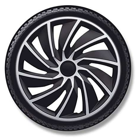 Style Auto AutoStyle Set Wheel Covers Turbo 14-inch Silver/Black