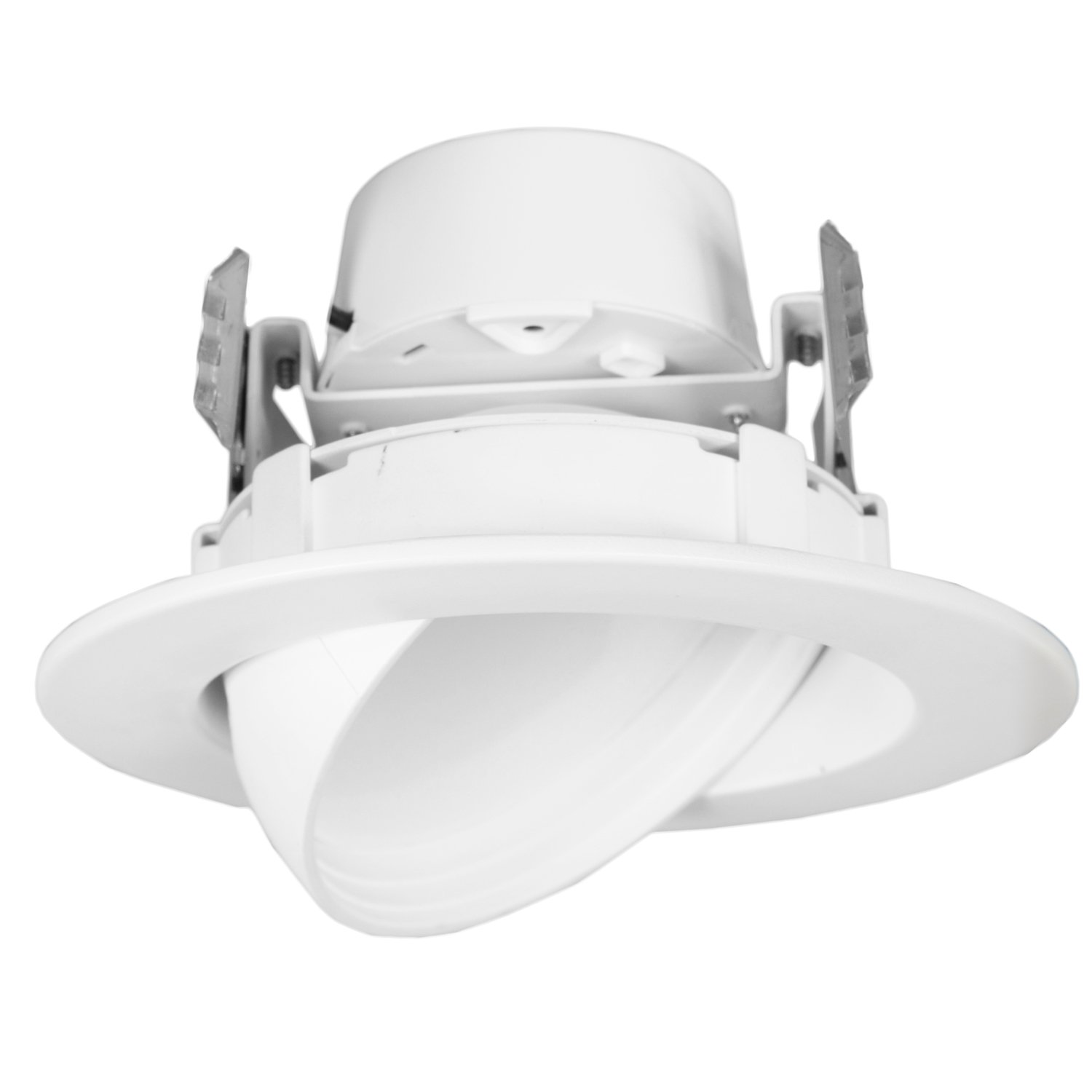12 Watt 4''-Inch Rotatable 750 Lumens Maxxima LED Retrofit Downlight Gimbal Warm White 2700k Dimmable, E26 Straight Wire Connection, Energy Star by Maxxima
