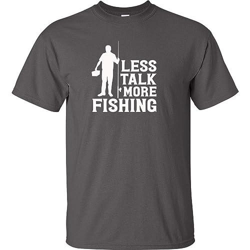 Amazon com: Less Talk More Fishing Send Me Fishing White