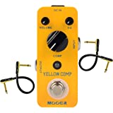 Mooer MCS2 Yellow Compression Effects Pedal With 2 Getaria Pedal Cables