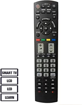 Nuevo Control Remoto Universal Panasonic TV de reemplazo Apto para ...