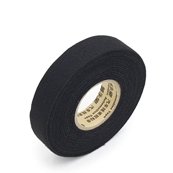 61fTnYDWTtL._SX554_ amazon com 19mm x 15m wiring harness velvet cloth tape for car  at gsmportal.co