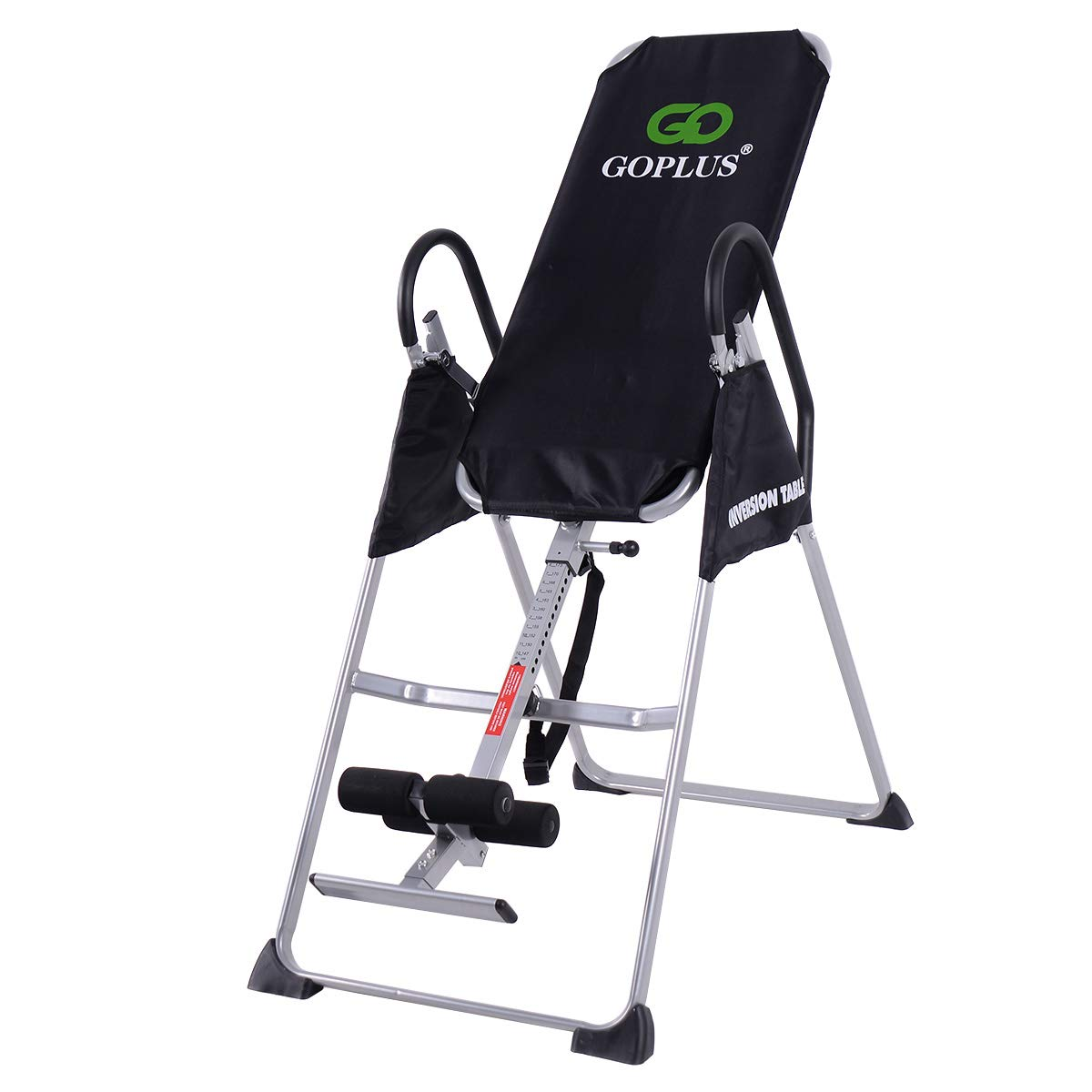 Gyamx Inversion Table, Gravity Adjustable Folding Therapy Back Stretching Machine for Back Pain