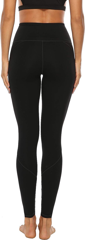 AFITNE Women/'s High Waist Yoga Pants with Pockets Tummy Control Workout Running 4 Way Stretch Yoga Leggings