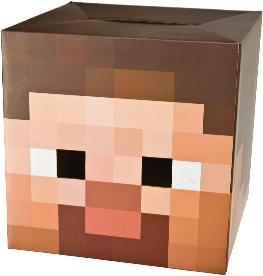 JINX Minecraft - Cartón Cabeza - Steve - Cabeza de cartón de 30 cm ...