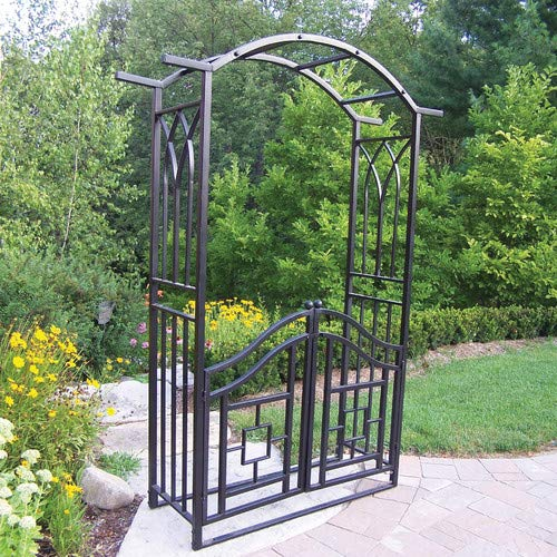 Oakland Living Royal Steel Arbor with Gate Oakland Living Royal Steel Arbor with Gate