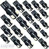 2001 mustang interior dash parts - LUYED 20 X 240 Lumens Super Bright 5630 6-EX Chipsets 194 168 175 2825 W5W 158 161 T10 Wedge Led Bulbs,Xenon White(Best value in this market)