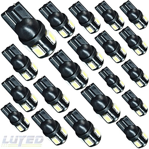 Concorde 2000 Parts Chrysler (LUYED 20 X 240 Lumens Super Bright 5630 6-EX Chipsets 194 168 175 2825 W5W 158 161 T10 Wedge Led Bulbs,Xenon White(Best value in this market))