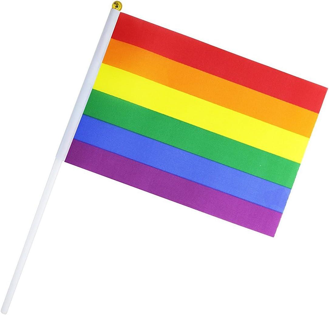 Handheld Desktop Rainbow Flags Gay Pride LGBT