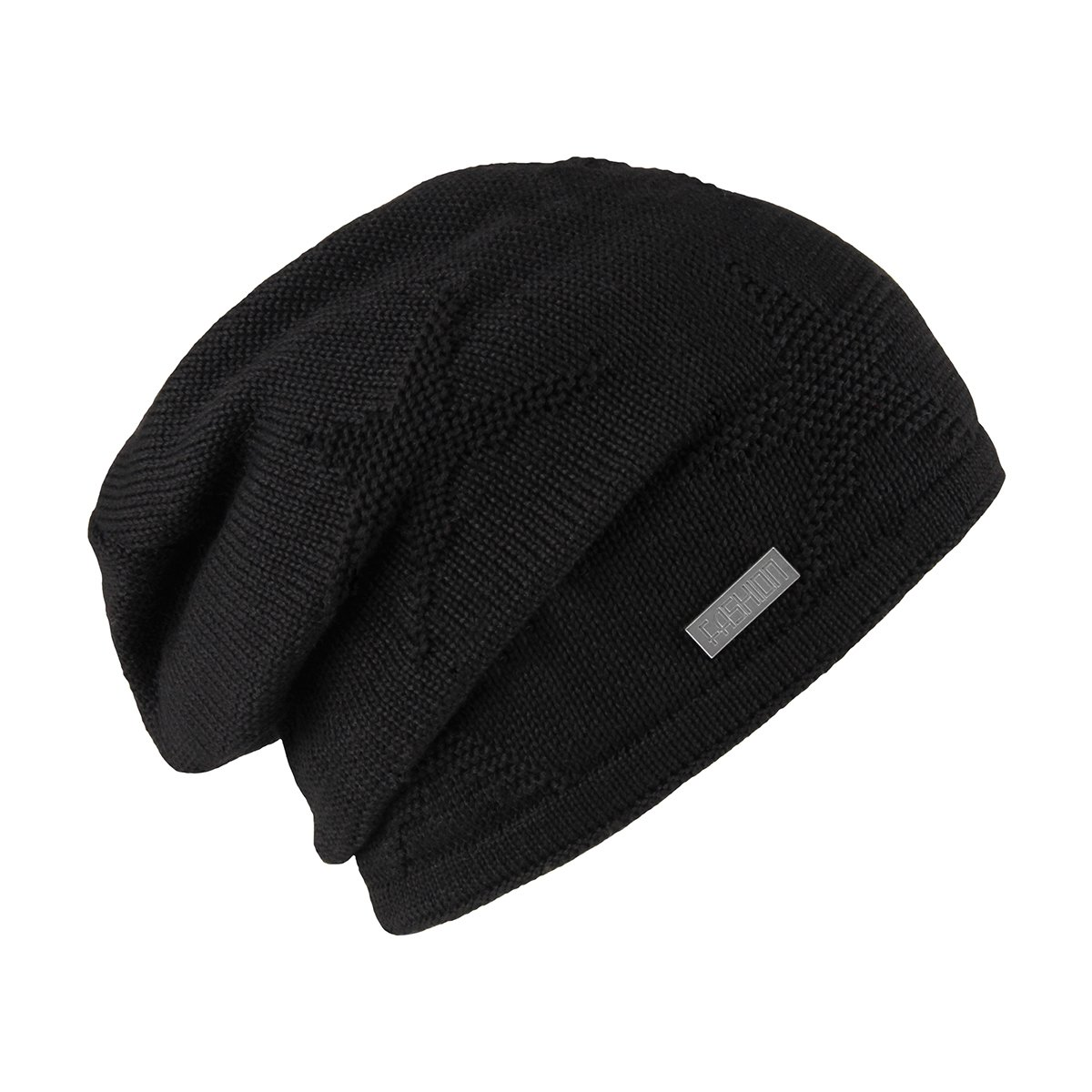 8e87a676e5f548 OMECHY Winter Knit Slouchy Beanie Hat Unisex Daily Warm Ski Skull Cap, Black