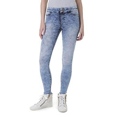2fb3ae7d55012 Jordache Juniors Denim Jeggings - Low Rise Super Stretch Stacked Waistband  Pants