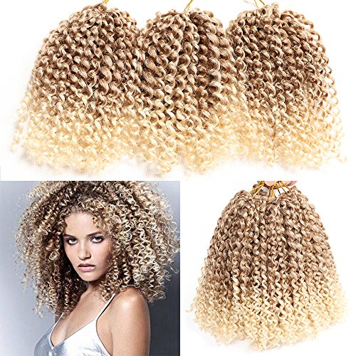 6 Packs Marlybob crochet hair afro kinky curly hair crochet braids curly wave crochet braiding hair synthetic hair extension (T27/613)