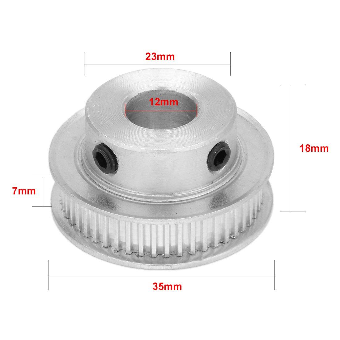 Aexit Aluminio MXL 50 Dientes 12mm taladro Sincronización Polea ...