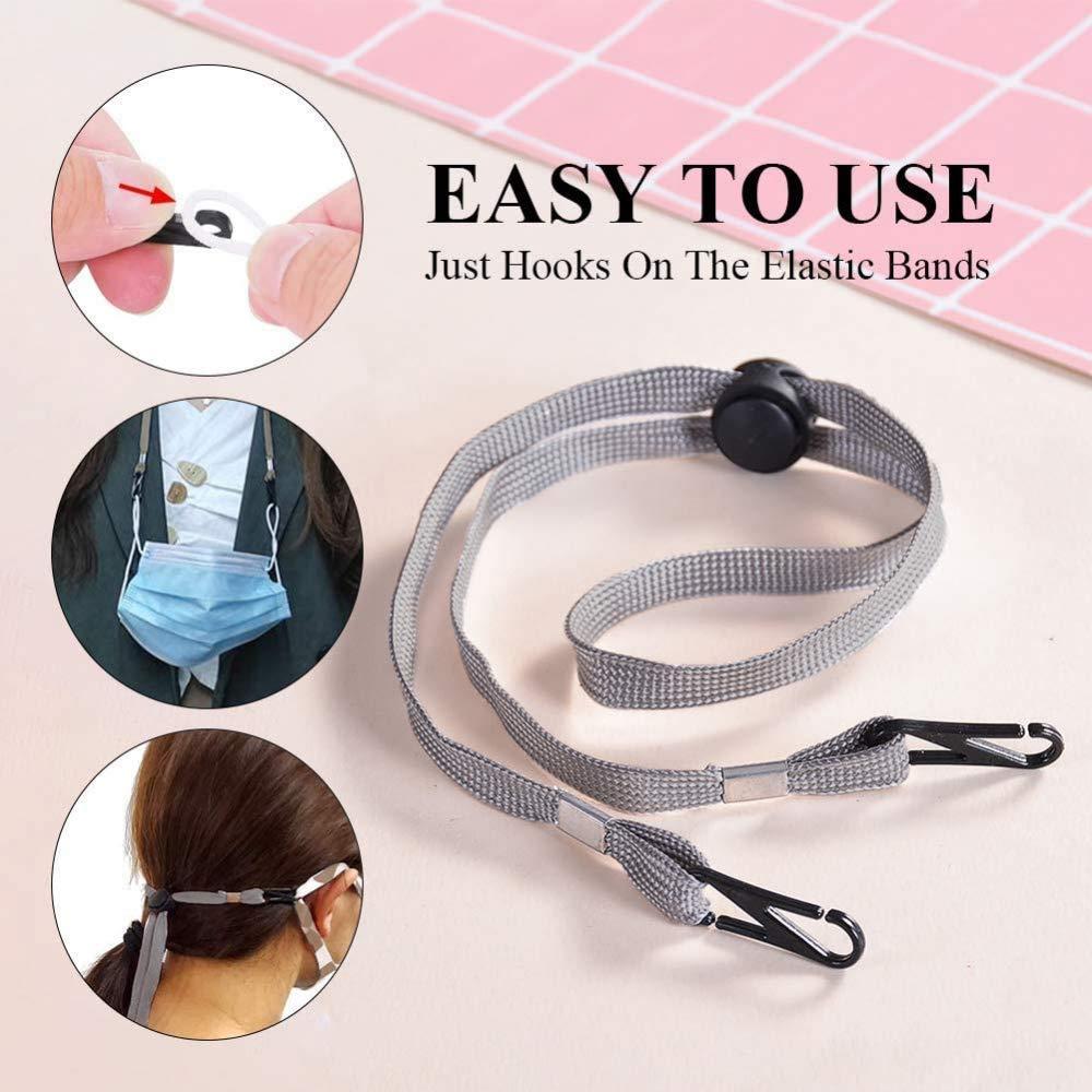 ganchos de agarre c/ómodo para los o/ídos protectores para gafas de sol de gafas de lectura gafas Paquete de 5 cordones para la cara para ni/ños y mujeres multicolor