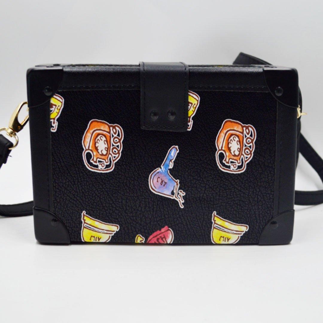 Millya Ladies Cartoon Pattern Printed Shoulder Bag Mini Square Flap Envelop  Bag Box Messenger Bag: Amazon.co.uk: Luggage