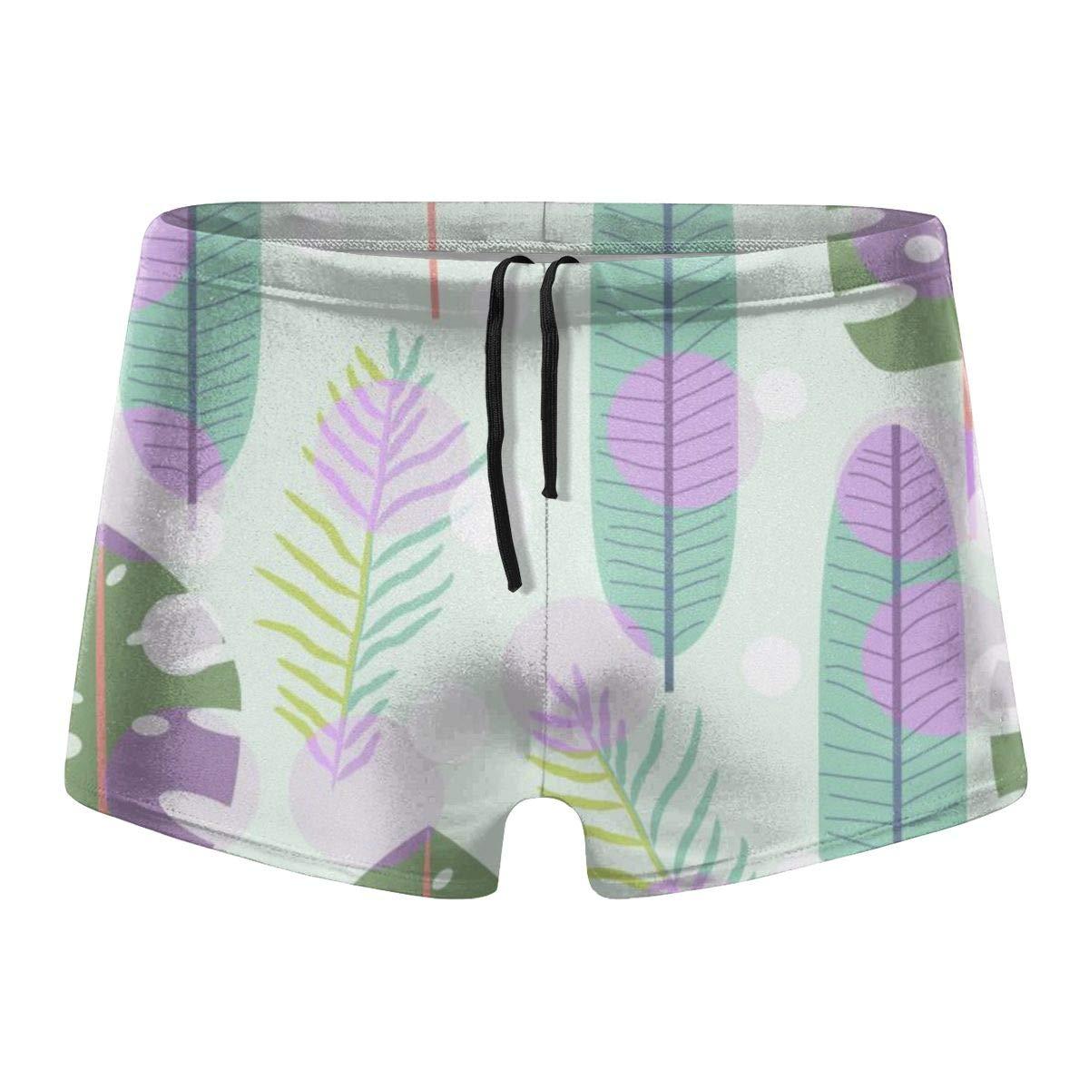 G66TCX Mens Boxer Swimwear Geometric Board Shorts Square Leg Board Shorts Swimsuit Swim Underwear