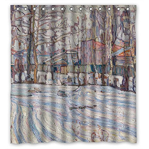 (NASAZONE Polyester Abraham Manievich - Winter Christmas Shower Drape Width X Height / 72 X 72 Inches / W H 180 By 180 Cm Gift Or Decor For Boys Kids Kids Boys Him. Anti Bacterial - Fabric )