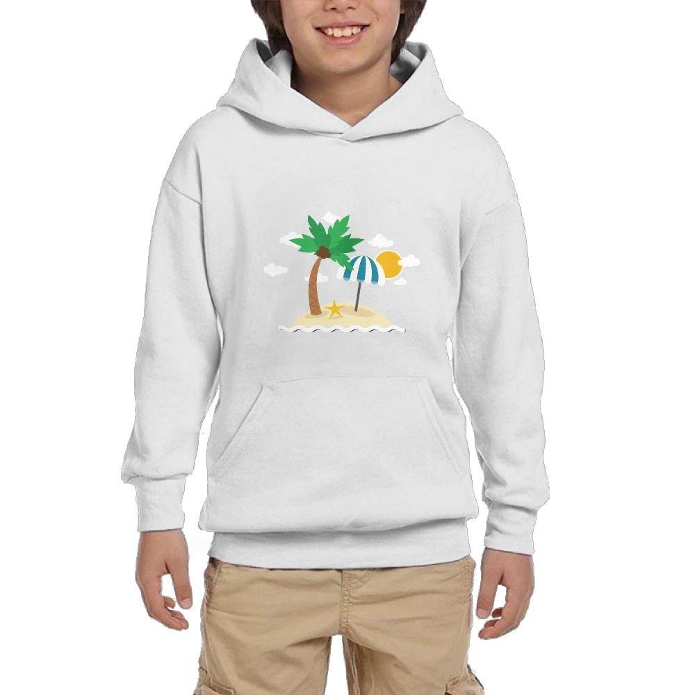 Quliuwuda Boy Summer Holiday Island Coconut Trees Funny Climbing Black Fleeces