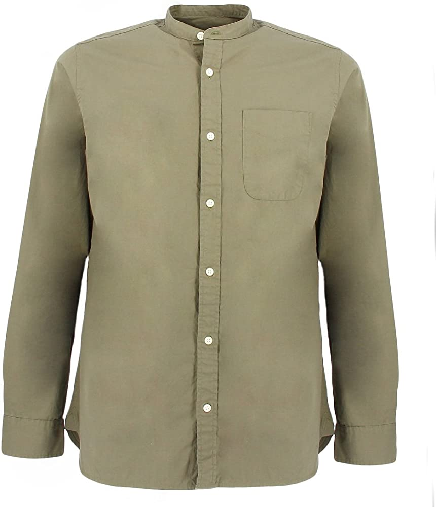 Jack & Jones Jprkevin Mao Shirt L/s Camisa, Verde (Dusty Olive Fit:Slim Fit), Large para Hombre: Amazon.es: Ropa y accesorios